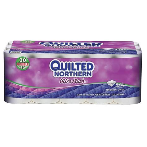 northern bathroom tissue quilted northern plush bathroom tissue 3 ply 30 pack