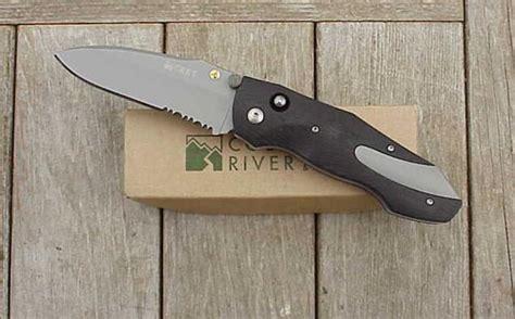 auto knife kits crkt elishewitz anubis brushed partially serrated