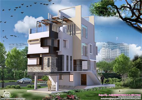80 yard home design contemporary villa in 2700 sq feet kerala home design