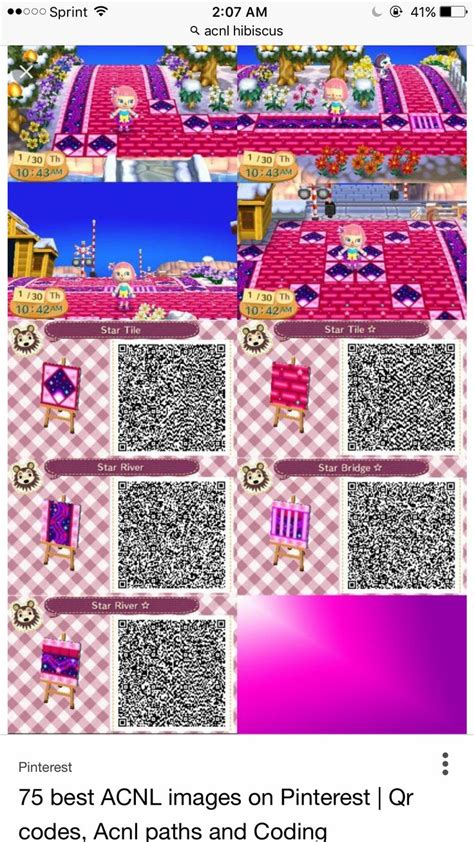 pin  aubrey botello  acnl qr paths animal crossing