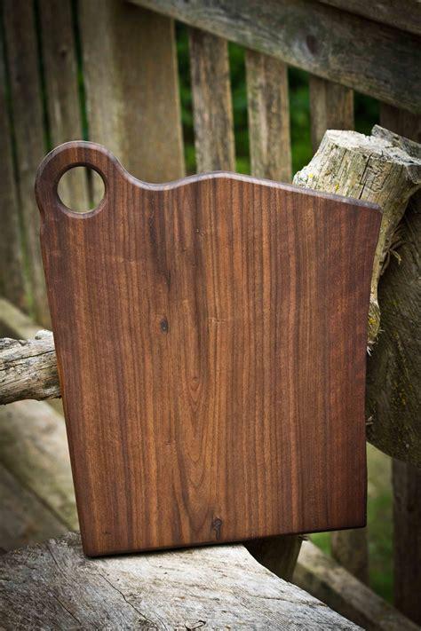 custom   edge walnut cuttingserving board  wood