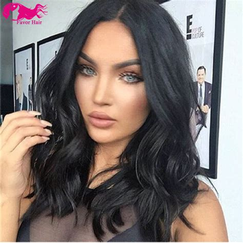 black hair style with long hair on top and sort hair in back 7a bob lace front wigs brazilian hair long bob human hair