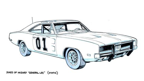 The General Lee By Jerome K Moore On Deviantart General Car Coloring Pages