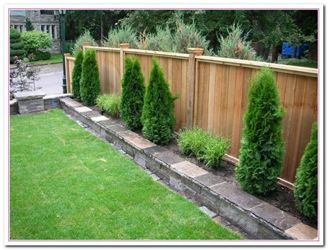 Fencing Ideas For Backyards with The Backyard Fence Ideas Home And Cabinet Reviews