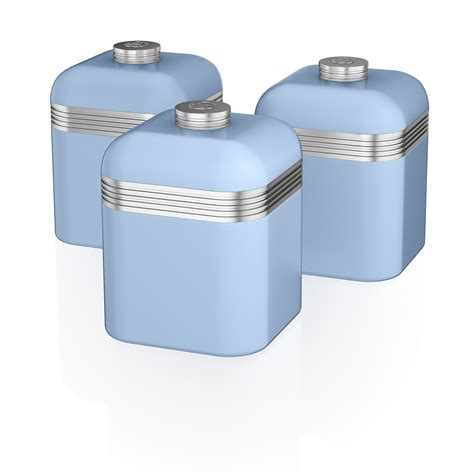 kitchen canisters blue swan kitchen appliance retro set 2 litre blue kettle 3