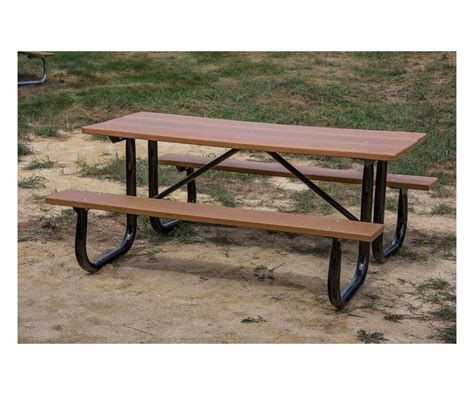 6 ft picnic table 6 ft heavy duty recycled plastic picnic table with welded