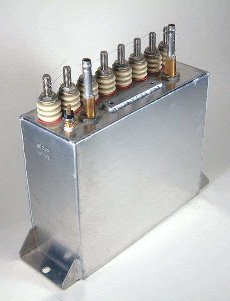 cooled capacitor ar series water cooled filled caps on high energy corp