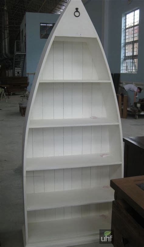 boat shaped bookshelf for guest room decorating ideas