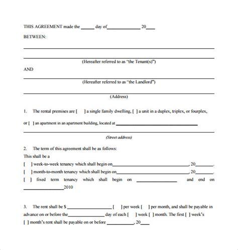 Sample Standard Rental Agreement   9  Documents in PDF, Word