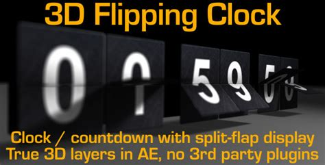 Flipping Clock Counter With Split Flap Numbers By Cinnamonvisualfx Split Flap After Effects Template
