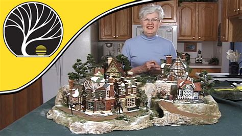 youtube make a village display build a display for collectible houses model scenery woodland scenics