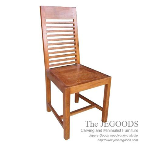 Kursi Cafe Chairman 187 garisan teak chair simple and durable teak minimalist