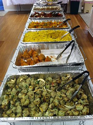 Catering Menu Taste Of India Buffet Set Up For Catering