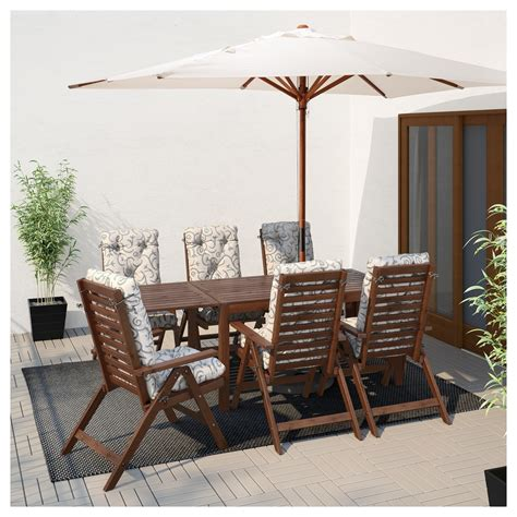 Outdoor Drop Leaf Table by 196 Pplar 214 Drop Leaf Table Outdoor Brown Stained 140 200 260x78 Cm Ikea