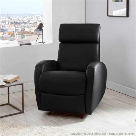 fauteuil cuir relaxation fauteuil relax manuel en cuir avec t 234 ti 232 re inclinable paul momentime port offert
