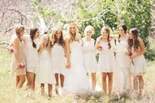Yellow Chandelier Earrings Neutral Bridesmaids 20 Bridal Parties Wearing Neutral
