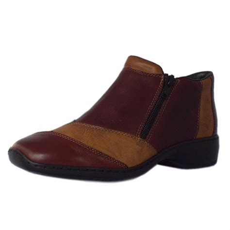 ankle boots comfortable rieker witney l3864 35 women s comfortable red ankle