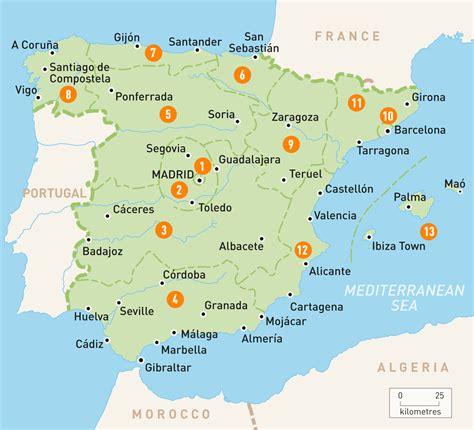 of spain map of spain spain regions guides
