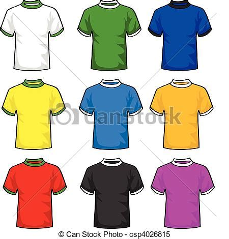 Vector Clip Of A Set Of Different Colored Clipart Vector Of T Shirts Illustration Set Of T Shirts In Different Colors Csp4026815
