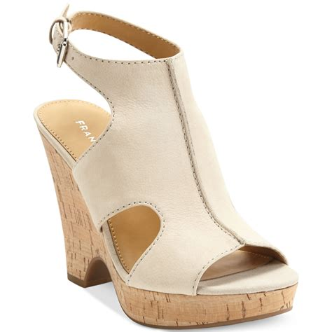 franco sarto platform wedge sandals in lyst
