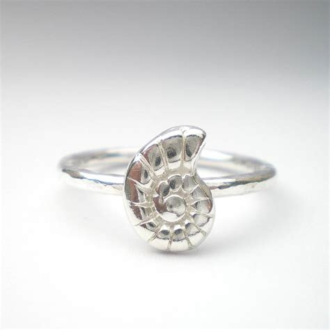 silver spiral ring by ali bali jewellery