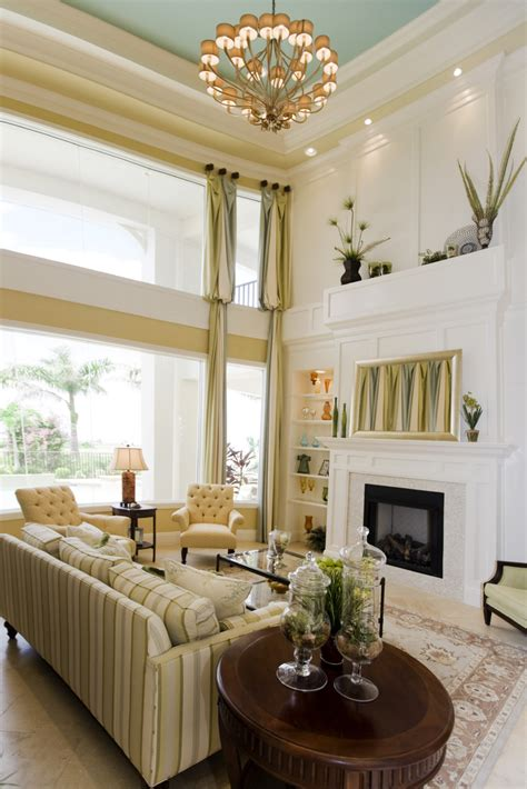 Living Room Ceiling Colors 54 Living Rooms With Soaring 2 Story Cathedral Ceilings
