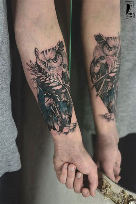 owl tattoo on forearm tattoo collections