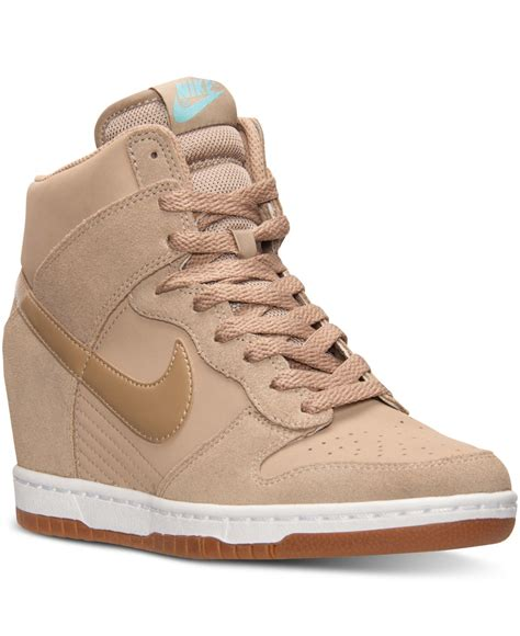 nike dunk sneakers lyst nike s dunk sky hi essential casual sneakers