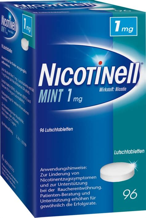 Detox From Nicotine Lozenges by Nicotinell 174 Mint 1 Mg Lozenges Gebro