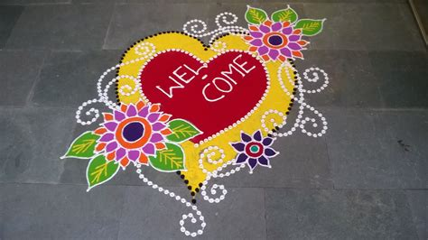 new year design freehand rangoli design new year special