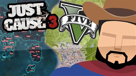 just cause 3 map size just cause 3 map vs gta 5 map side by side size