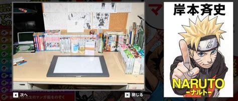 Anime Desk by Masashi Kishimoto S Desk Mangaka Anime Photo