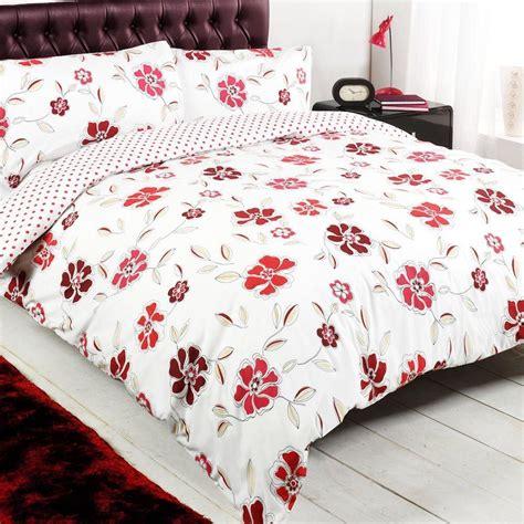 bedcover set king polkadot 180x200 floral polka dot white reversible king duvet quilt