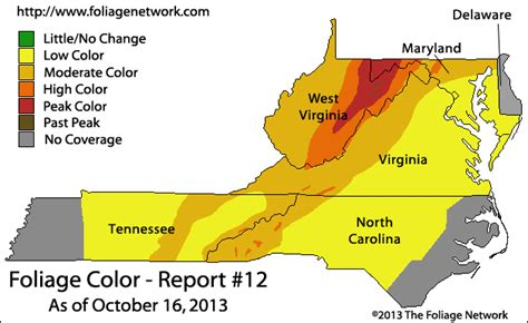maryland foliage map mid atlantic fall foliage right on schedule near peak
