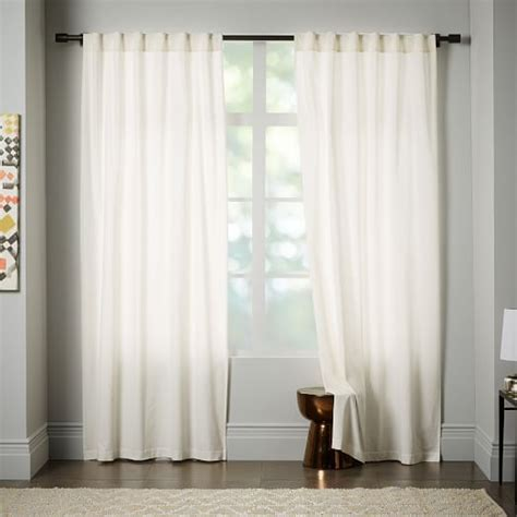 ivory velvet curtains velvet pole pocket curtain ivory west elm