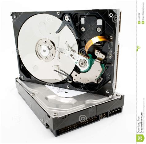 Harddisk Cpu damaged computer drive royalty free stock images