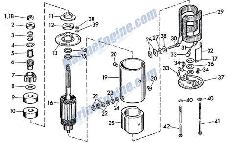 starter motor parts diagram evinrude starter motor parts for 1961 40hp 35525 outboard