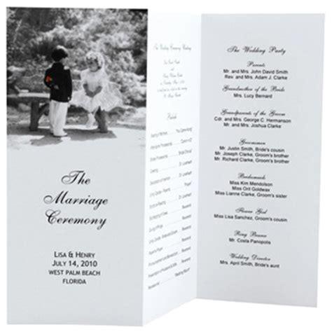 our tree tri fold wedding program template zazzle com