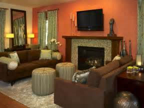 brown and orange home decor living room orange ideas simple home decoration
