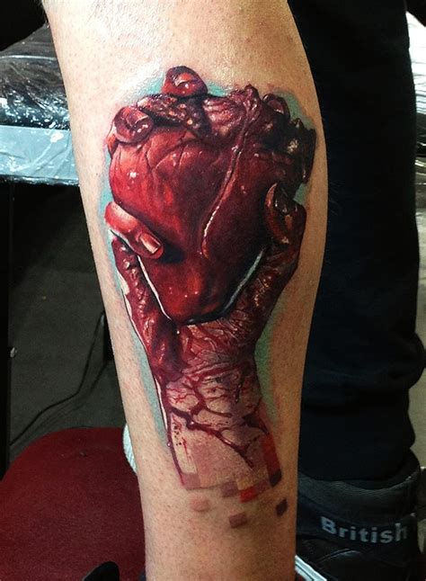 real heart tattoo the gallery for gt real with roses