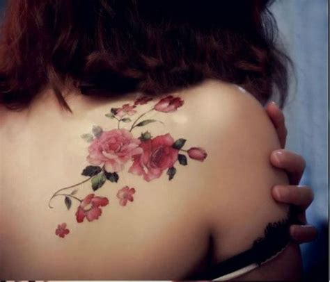 small flower tattoos on back shoulder 50 pretty flower ideas for creative juice