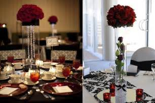 wedding decoration ideas white and black table