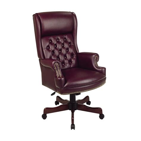 executive office furniture seating shop office worksmart jamestown oxblood mahogany