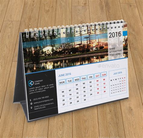 2016 Desktop Photo Calendar Templates
