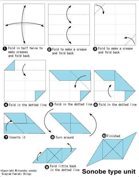 Unit Origami - origami sonobe unit