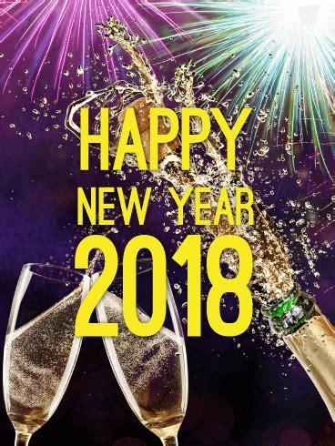 cheers happy new year cheers happy new year card 2018 birthday greeting