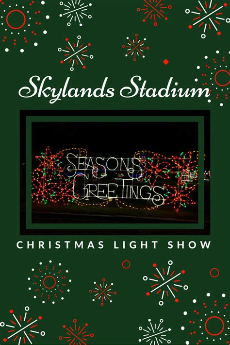 christmas light show skylands stadium video magic at skylands stadium