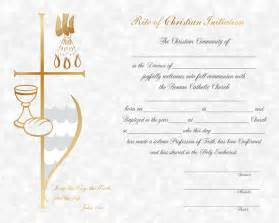 Catholic Baptism Certificate Template by Rcia Rcia Certificate