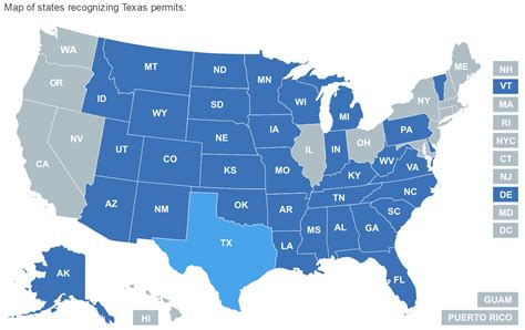 texas chl reciprocity map concealed carry reciprocity newhairstylesformen2014