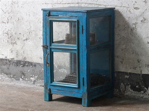 Antique Blue Cabinets by Vintage Blue Display Cabinet Sold Scaramanga